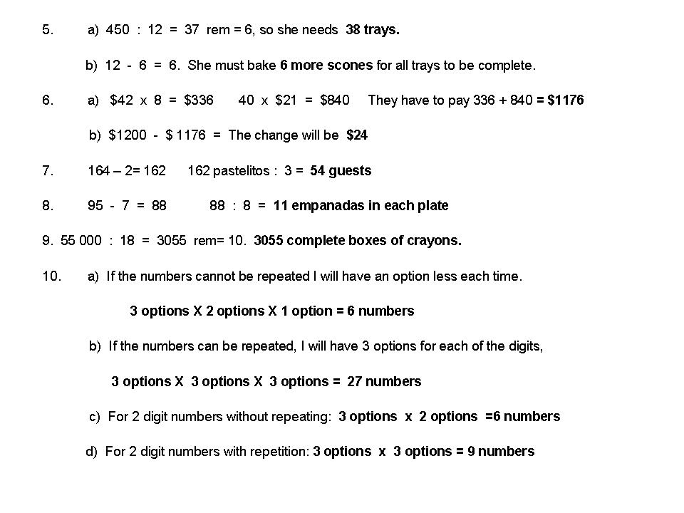 mathsinfo    5th answers  problem solving and geometry